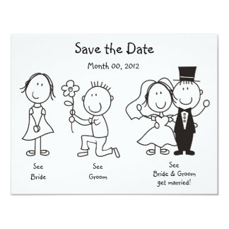 Cute Dick and Jane Save the Date Cards Custom Announcement