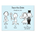 Cute Dick and Jane Save the Date Cards Announcements
