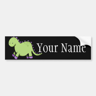Cute Dino Bumper Sticker