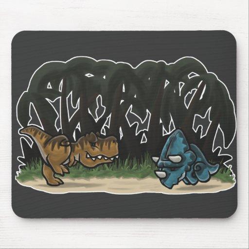 Cute Dino Clash Mousepad