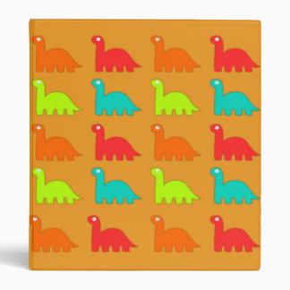 Cute Dino Pattern Walking Dinosaurs 3 Ring Binder