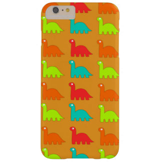 Cute Dino Pattern Walking Dinosaurs Barely There iPhone 6 Plus Case