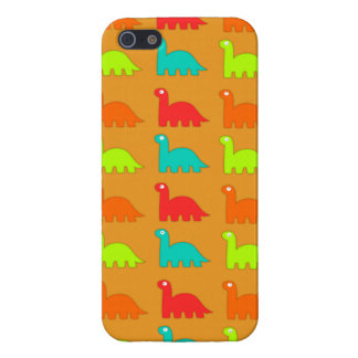 Cute Dino Pattern Walking Dinosaurs Case For iPhone SE/5/5s