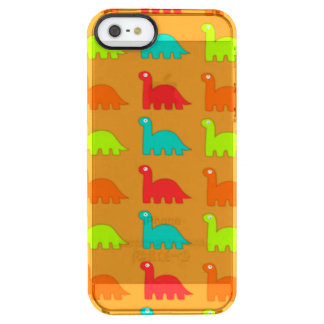 Cute Dino Pattern Walking Dinosaurs Clear iPhone SE/5/5s Case