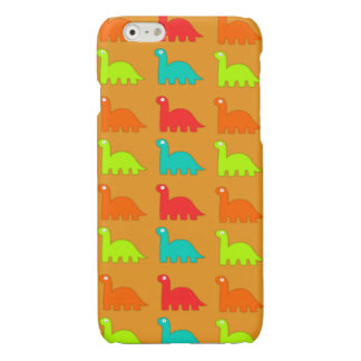 Cute Dino Pattern Walking Dinosaurs Glossy iPhone 6 Case
