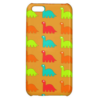 Cute Dino Pattern Walking Dinosaurs iPhone 5C Cover