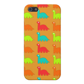 Cute Dino Pattern Walking Dinosaurs iPhone SE/5/5s Cover