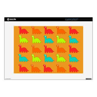 Cute Dino Pattern Walking Dinosaurs Laptop Decals