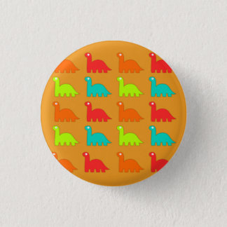 Cute Dino Pattern Walking Dinosaurs Pinback Button