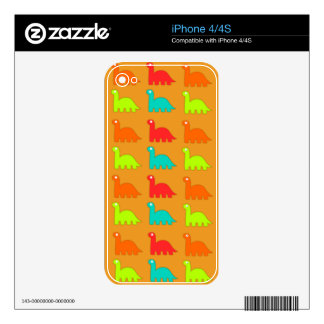 Cute Dino Pattern Walking Dinosaurs Skin For iPhone 4S