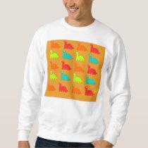 Cute Dino Pattern Walking Dinosaurs Sweatshirt