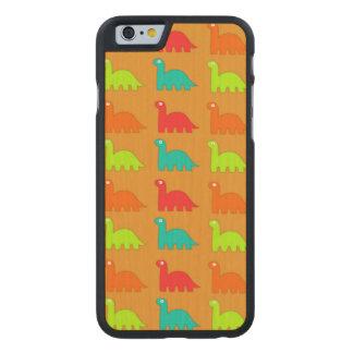 Cute Dino Pattern Walking Dinosaurs Carved® Maple iPhone 6 Slim Case