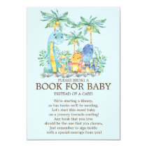 Cute Dinosaur Baby Shower Book for Baby Invitation