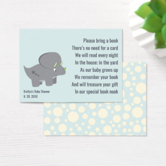 Cute Dinosaur | Baby Shower Book Request Insert