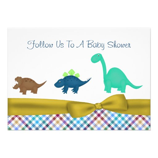 Cute Dinosaur Baby Shower Invitation