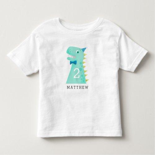 Cute Dinosaur Birthday Any Age Toddler T_shirt