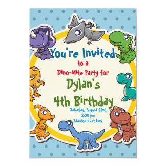 cute Dinosaur Birthday Party Card