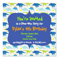 Dinosaur birthday invitations announcements zazzle cute dinosaur birthday party invitation templates filmwisefo Image collections