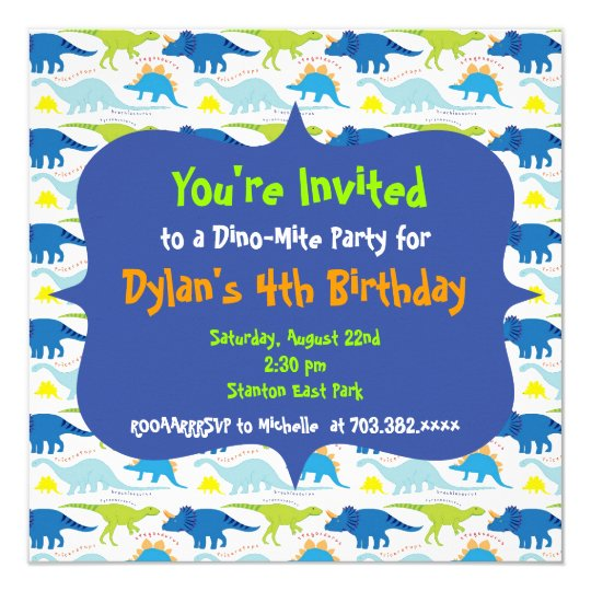 cute dinosaur birthday party invitation templates zazzle com