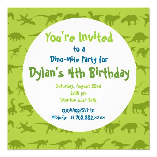 40th Birthday Ideas Invitation Templates Dinosaurs