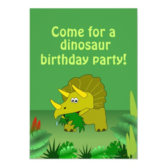 cute dinosaur birthday party invitations template zazzle com