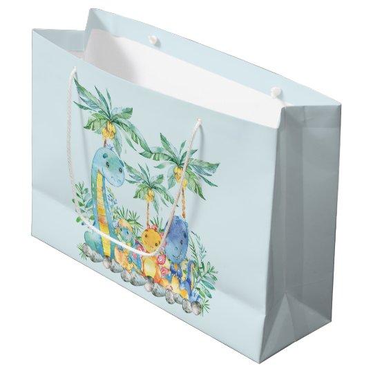 Cute Dinosaur Boys Baby Shower Gift Bag Zazzle