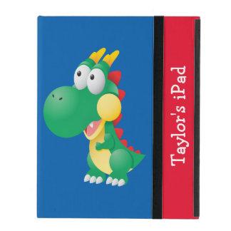 Cute Dinosaur Cartoon Kid's Custom iPad Cover