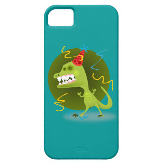 Cute Dinosaur iPhone 5 Case Green and Teal