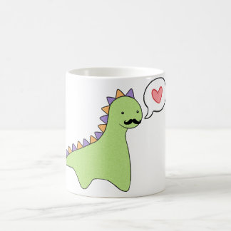 Cute Dinosaur Mustache Coffee Mugs