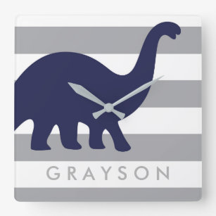 Cute Dinosaur Nursery Wall Clock Baby