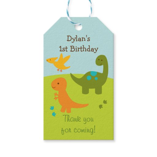 Cute Dinosaur Party Favor Tags