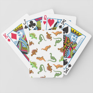 Cute Dinosaur Pattern Bicycle Playing Cards
