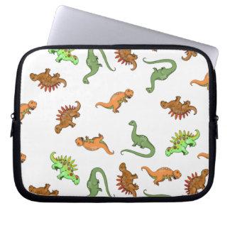 Cute Dinosaur Pattern Laptop Sleeve