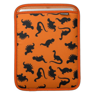 Cute Dinosaur Pattern on Orange Sleeves For iPads
