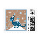 Cute Dinosaur Playing in the Snow! Stamps