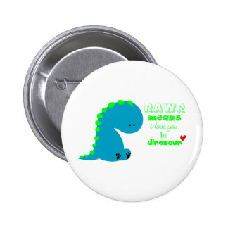 Cute Dinosaur RAWR Button