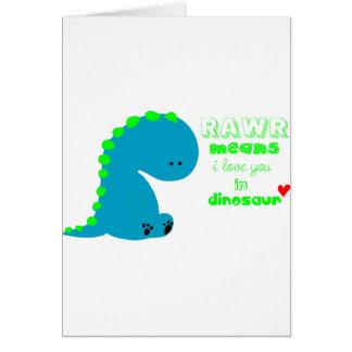 Cute Dinosaur RAWR Card