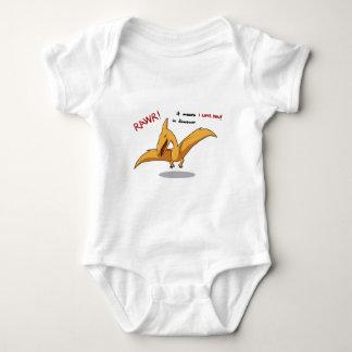 cute dinosaur rawr means I love you Baby Bodysuit