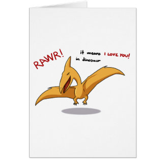 cute dinosaur rawr means I love you Greeting Card