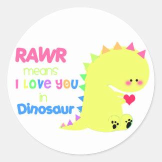 Cute Dinosaur Sticker RAWR