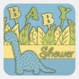 Cute Dinosaur Theme Baby Shower Stickers