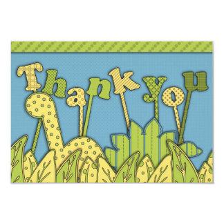 Cute Dinosaur Theme Flat Thank You Note Card