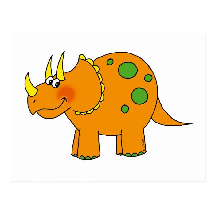 Cute dinosaur - triceratops postcard