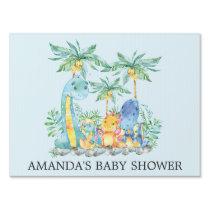 Cute Dinosaurs Baby Shower Yard Sign