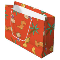 Cute Dinosaurs Large Gift Bag