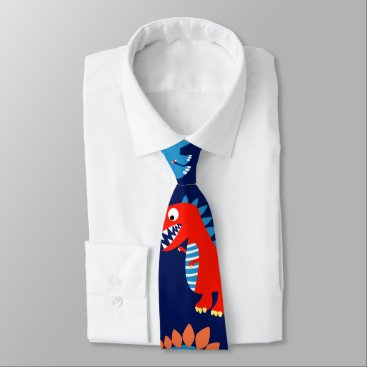 adamfahey Cute dinosaurs neck tie