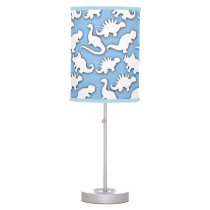 Cute Dinosaurs Pattern BaBy Blue Table Lamp