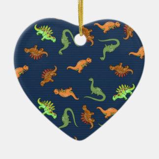 Cute Dinosaurs Pattern Ceramic Ornament
