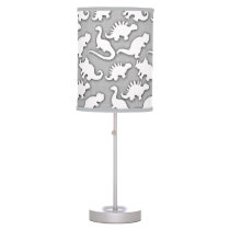 Cute Dinosaurs Pattern Grey Table Lamp
