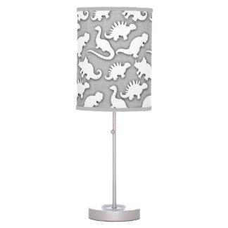 Cute Dinosaurs Pattern Grey Table Lamp